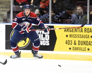Keaton Middleton of the Saginaw Spirit. Photo by Aaron Bell/OHL Images