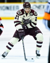 Jonathan Ang of the Peterborough Petes. Photo by Aaron Bell/OHL Images