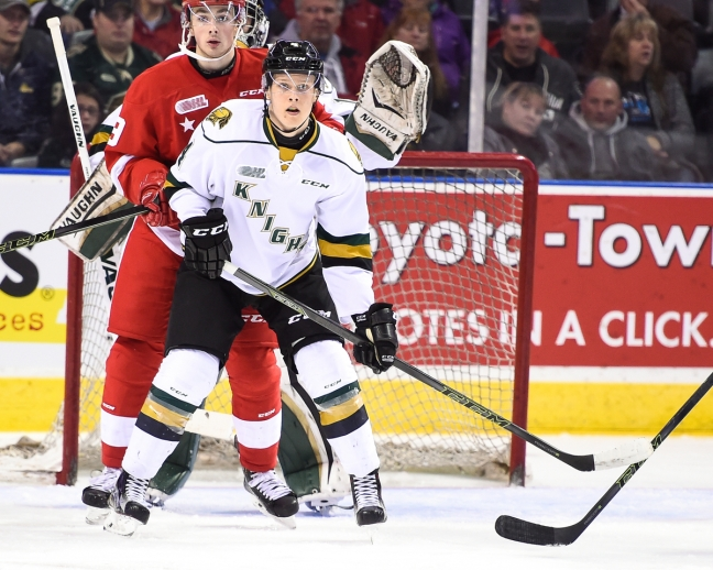 Olli Juolevi of the London Knights. Photo by Aaron Bell/OHL Images