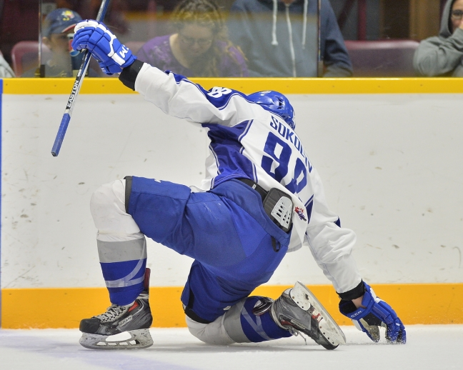 Dmitry Sokolov of the Sudbury Wolves. Photo by Terry Wilson / OHL Images.