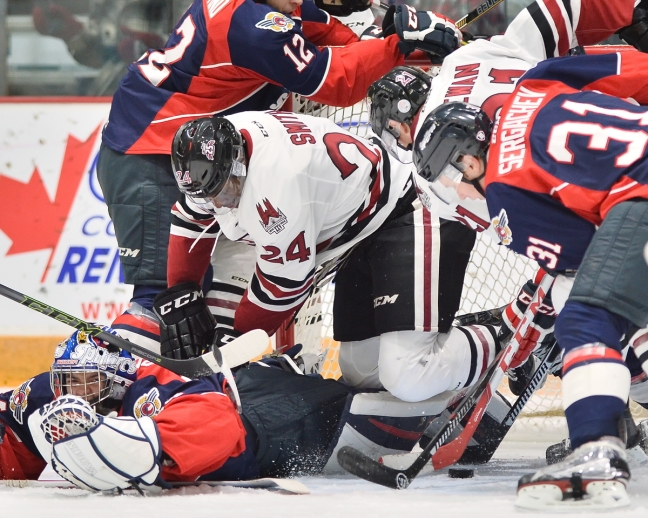 Givani Smith of the Guelph Storm. Photo by Terry Wilson / OHL Images.
