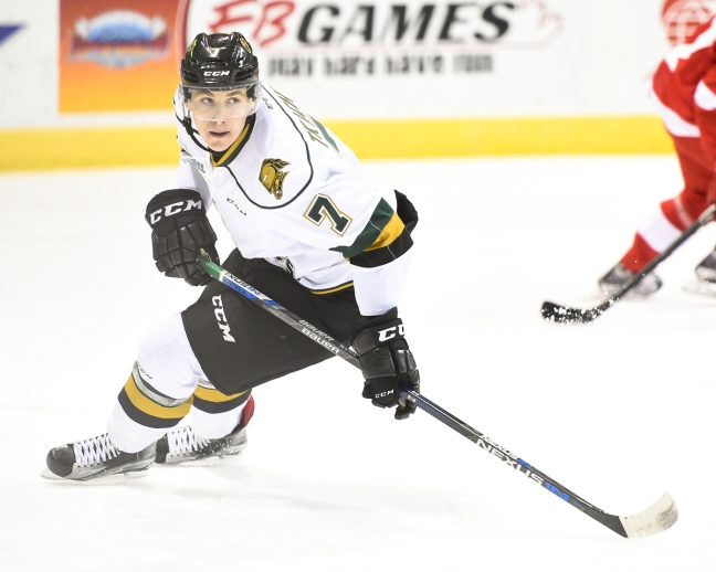 Matthew Tkachuk of the London Knights. Photo by Aaron Bell/OHL Images