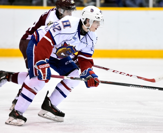 Benjamin Gleason of the Hamilton Bulldogs. Photo by Aaron Bell/OHL Images