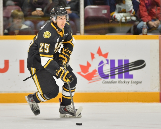 Jordan Kyrou of the Sarnia Sting. Photo by Terry Wilson / OHL Images.