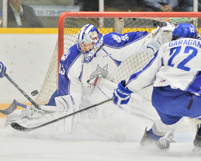 Troy Timpano of the Sudbury Wolves. Photo by Terry Wilson / OHL Images.