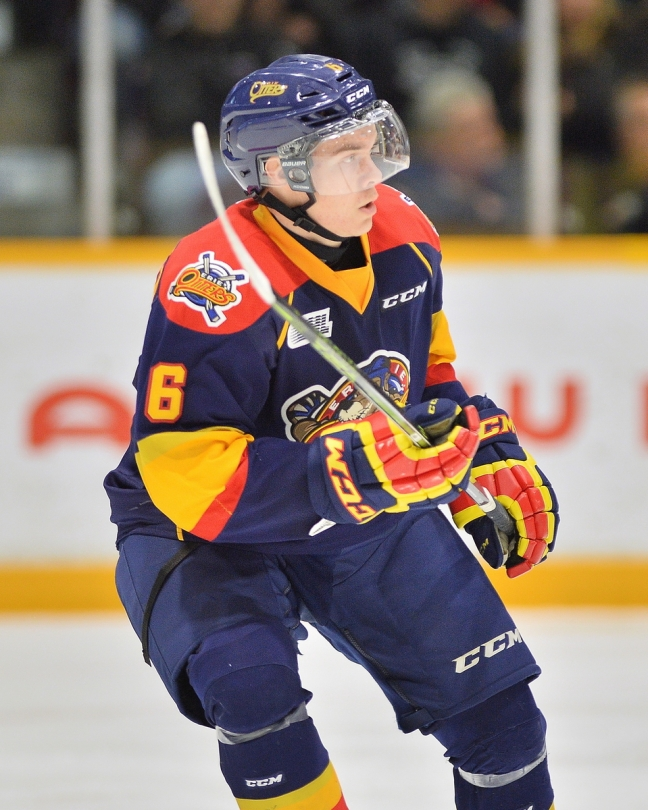 Jordan Sambrook of the Erie Otters. Photo by Terry Wilson / OHL Images.