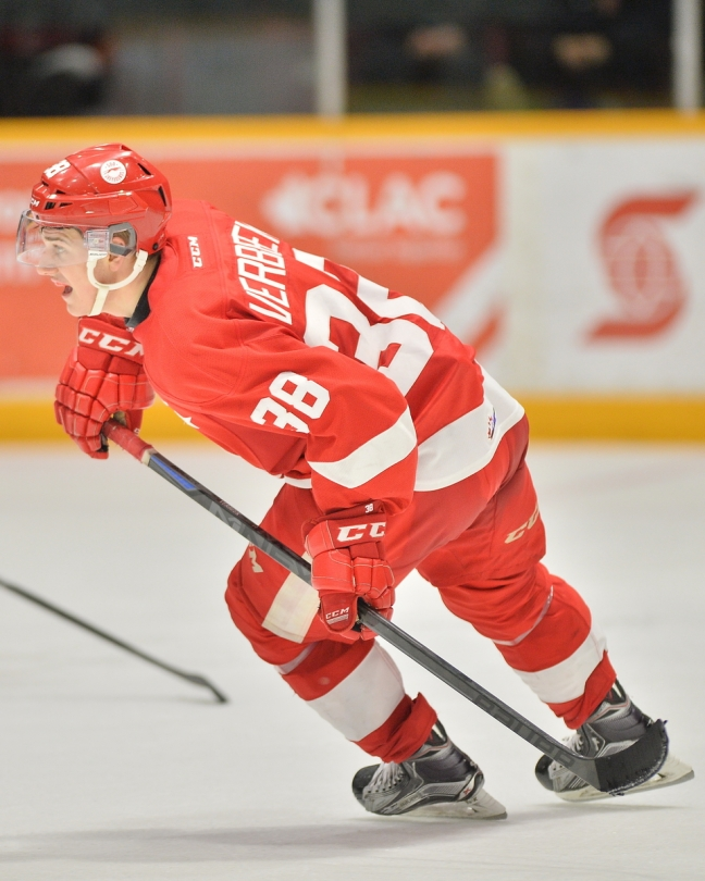 Hayden Verbeek of the Sault Ste. Marie Greyhounds. Photo by Terry Wilson / OHL Images.