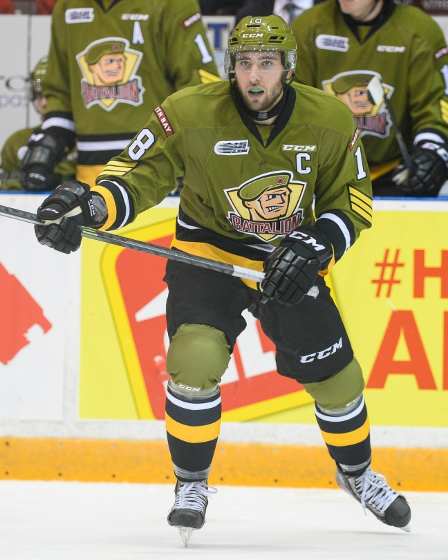 Mike Amadio of the North Bay Battalion. Photo by Aaron Bell/OHL Images