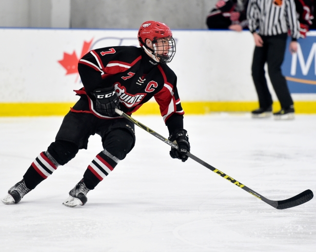 Nathan Dunkley of the Quinte Red Devils. Photo by Aaron Bell/OHL Images