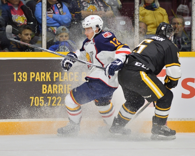 Kevin Labanc of the Barrie Colts. Photo by Terry Wilson / OHL Images.