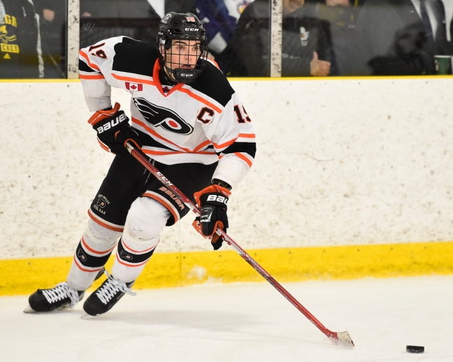 Jack McBain of the Don Mills Flyers. Photo by Aaron Bell/OHL Images