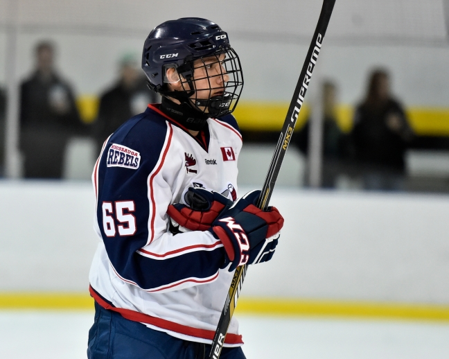 Peter Stratis of the Mississauga Rebels. Photo by Aaron Bell/OHL Images