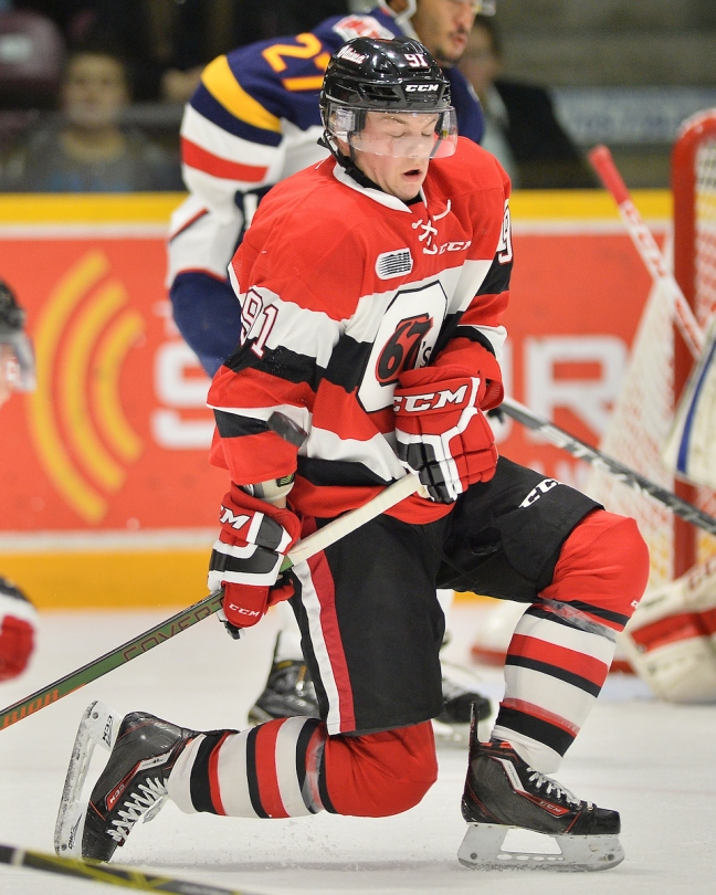 Drake Rymsha of the Ottawa 67's. Photo by Terry Wilson / OHL Images.