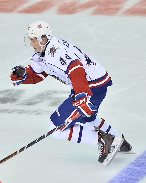 MacKenzie Entwistle of the Hamilton Bulldogs. Photo by Terry Wilson / OHL Images.