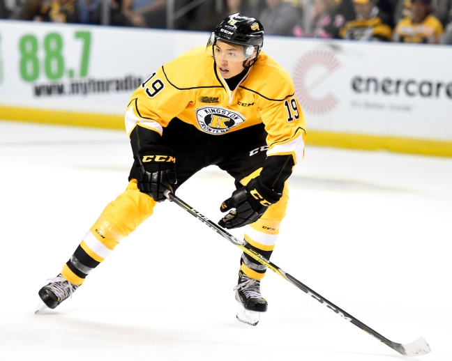 Jason Robertson of the Kingston Frontenacs. Photo by Aaron Bell/OHL Images
