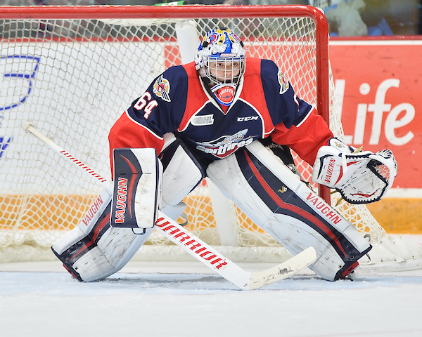 Michael DiPietro of the Windsor Spitfires. Photo by Terry Wilson / OHL Images.