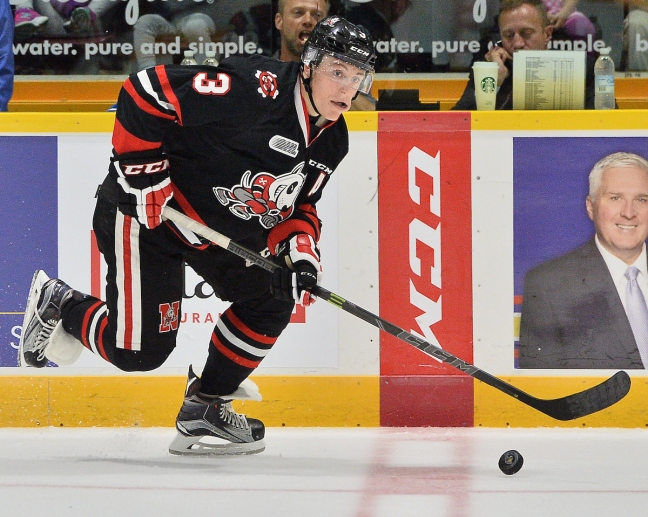 Ben Jones of the Niagara IceDogs. Photo by Terry Wilson / OHL Images.