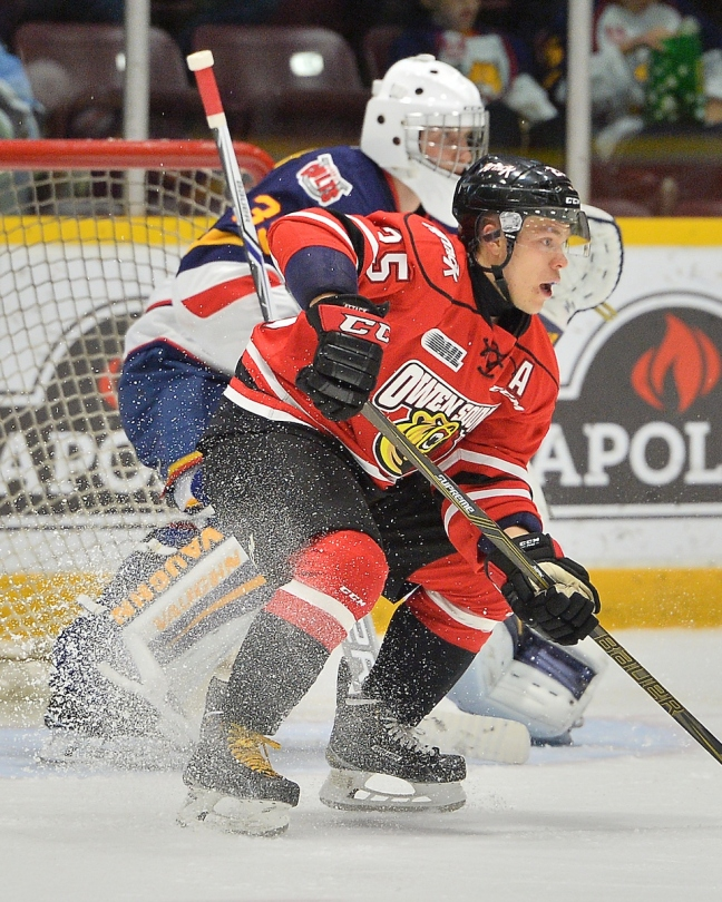 Petrus Palmu of the Owen Sound Attack. Photo by Terry Wilson / OHL Images.