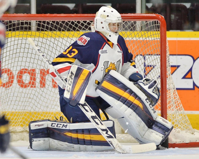 Christian Propp of the Barrie Colts. Photo by Terry Wilson / OHL Images.