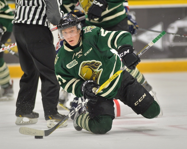 Robert Thomas of the London Knights. Photo by Terry Wilson / OHL Images.