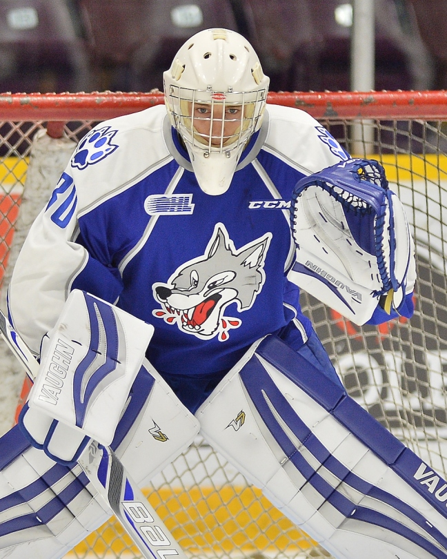 Jake McGrath of the Sudbury Wolves. Photo by Terry Wilson / OHL Images.