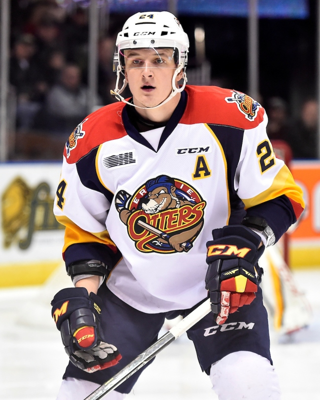 Darren Raddysh of the Erie Otters. Photo by Aaron Bell/OHL Images