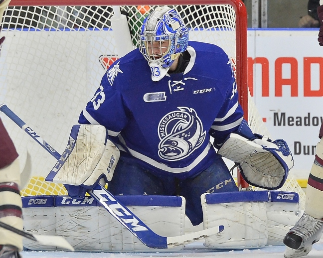 Matthew Mancina of the Mississauga Steelheads. Photo by Terry Wilson / OHL Images.