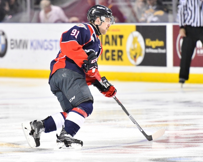 Aaron Luchuk of the Windsor Spitfires. Photo by Aaron Bell/OHL Images