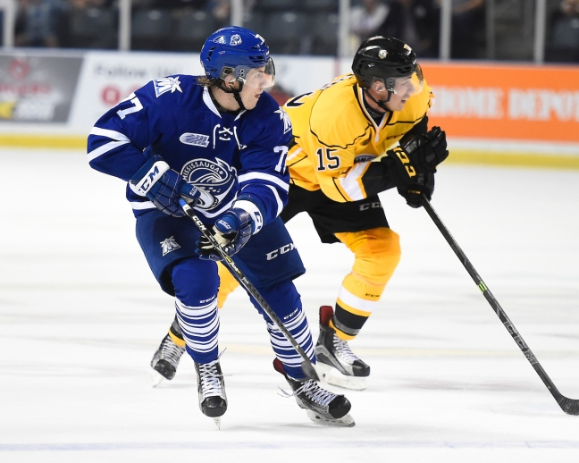 Albert Michnac of the Mississauga Steelheads. Photo by Aaron Bell/OHL Images