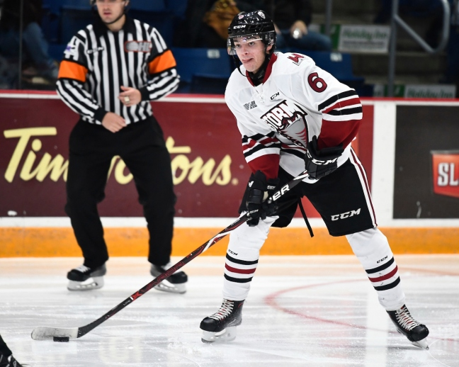 c050e3cbb Ryan Merkley of the Guelph Storm. Photo by Aaron Bell OHL Images