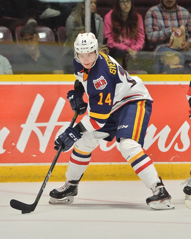 Andrei Svechnikovof the Barrie Colts. Photo by Terry Wilson   OHL Images. Andrei  Svechnikov ... 9e7fa04da