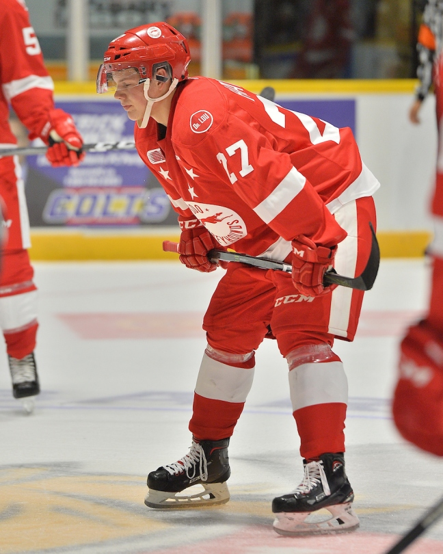 Barrett Hayton of the Sault Ste. Marie Greyhounds. Photo by Terrry Wilson / OHL Images.