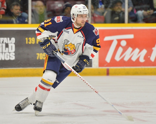 Aaron Luchuk of the Barrie Colts. Photo by Terry Wilson / OHL Images.