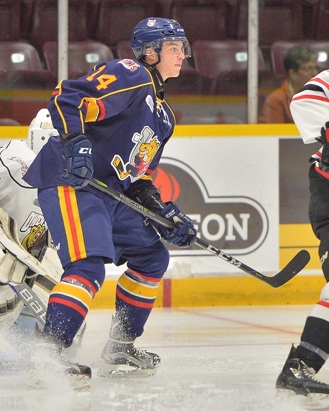 054f2a9bd Andrei Svechnikovof the Barrie Colts. Photo by Terry Wilson   OHL Images. Andrei  Svechnikov ...