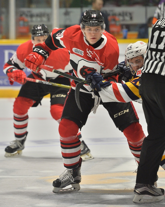 Sam Bitten of the Ottawa 67's. Photo by Terry Wilson / OHL Images.