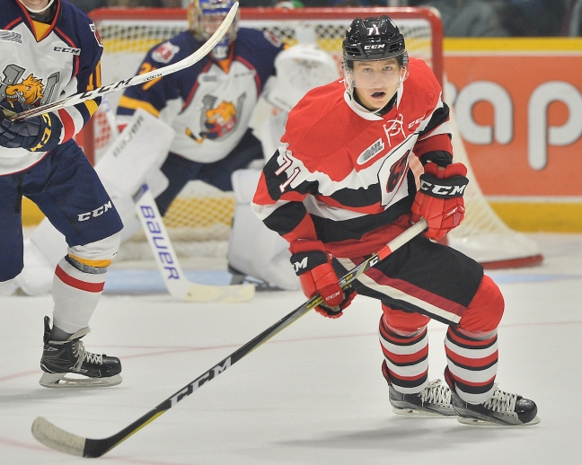 Cody Clark of the Ottawa 67's. Photo by Terry Wilson / OHL Images.