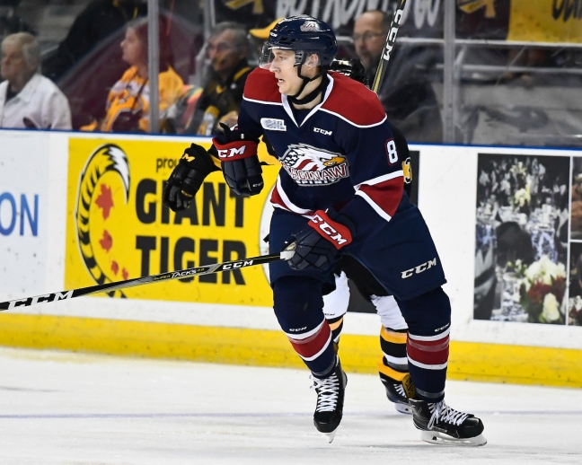 Caleb Everett of the Saginaw Spirit. Photo by Aaron Bell/OHL Images