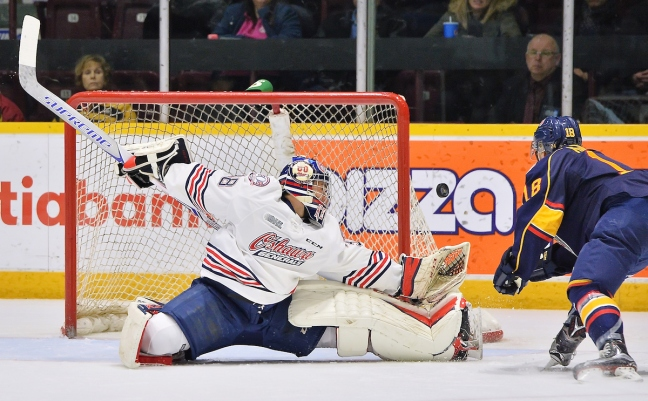 Kyle Keyser of the Oshawa Generals. Photo by Terry Wilson / OHL Images.
