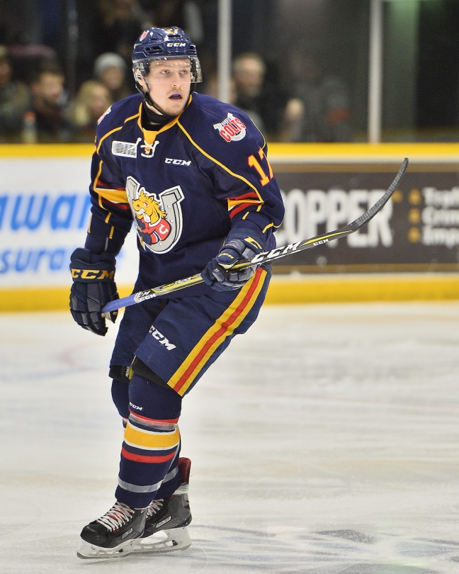 Dmitry Sokolov of the Barrie Colts. Photo by Terry Wilson / OHL Images.