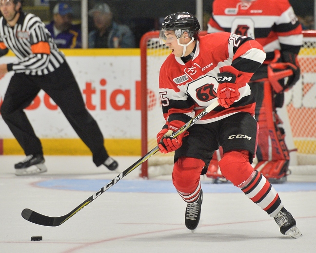 Peter Stratis of the Ottawa 67's. Photo by Terry Wilson / OHL Images.