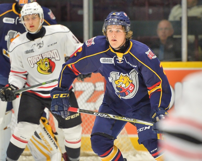Tyler Tucker of the Barrie Colts. Photo by Terry Wilson / OHL Images.