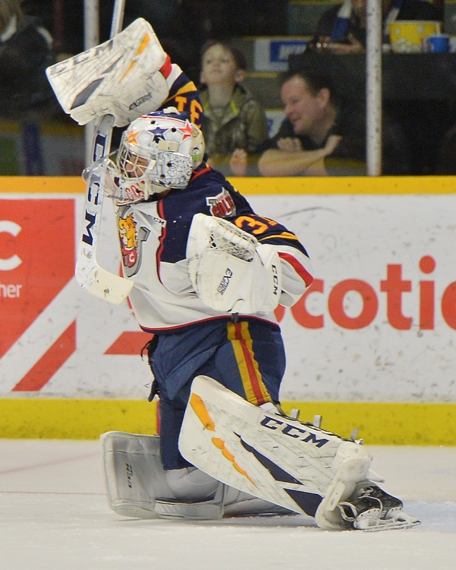 Jet Greaves of the Barrie Colts. Photo by Terry Wilson / OHL Images.