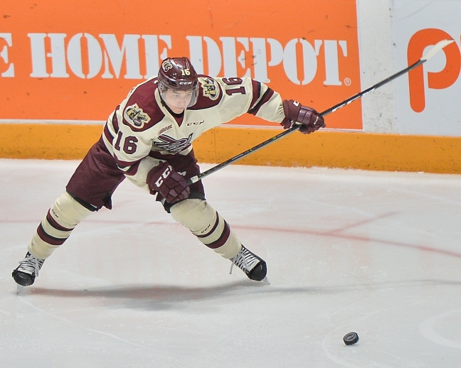 NIck Robertson of the Peterborough Petes. Photo by Terry Wilson - OHL Images.