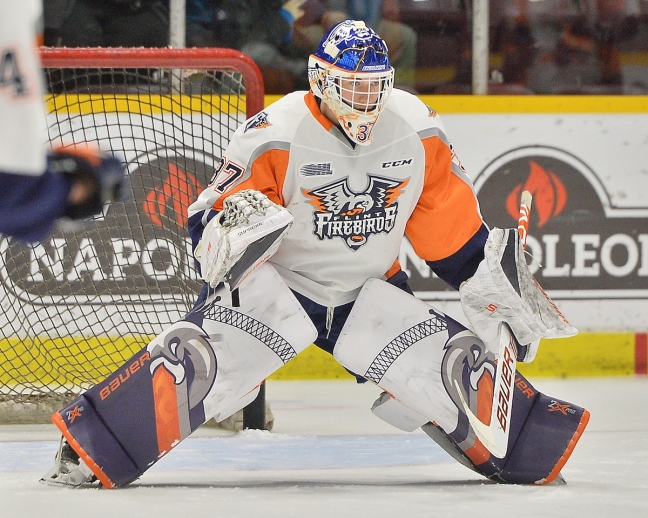 Luke Cavallin of the Flint Firebirds. Photo by Terry Wilson - OHL Images.