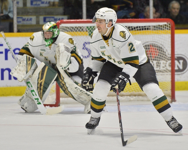 Evan Bouchard of the London Knights. Photo by Terry Wilson / OHL Images.