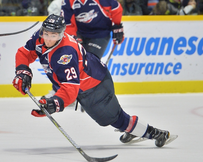 Daniel D'Amico of the Windsor Spitfires. Photo by Terry Wilson / OHL Images.