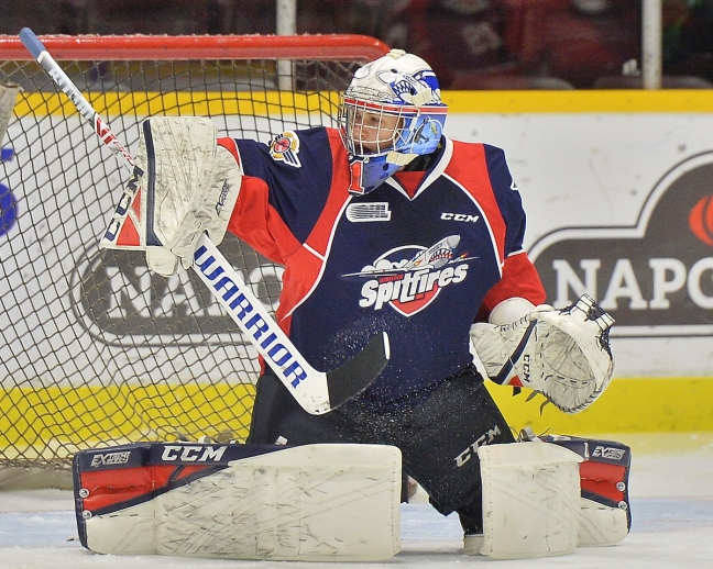 Kari Piiroinen of the Windsor Spitfires. Photo by Terry Wilson / OHL Images.
