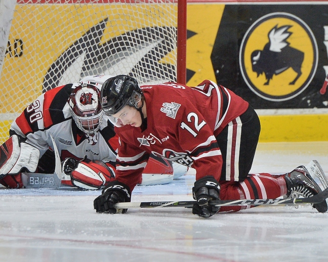 Keegan Stevenson of the Guelph Storm. Photo by Terry Wilson / OHL Images.
