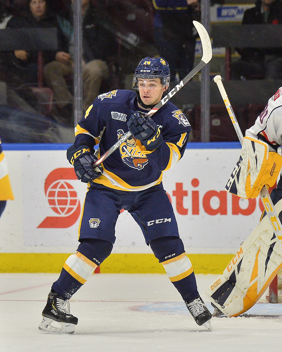 Hayden Fowler of the Erie Otters. Photo by Terry Wilson / OHL Images.
