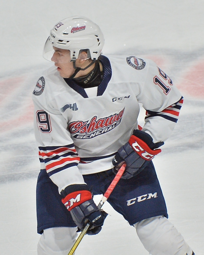 Oliver Suni of the Oshawa Generals. Photo by Terry Wilson / OHL Images.